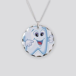 Healthy Happy Tooth Necklace Circle Charm