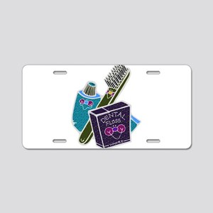 Toothbrush Toothpaste Floss Aluminum License Plate