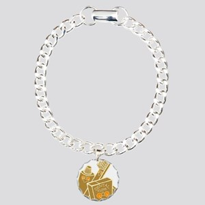 Toothbrush Toothpaste Floss Charm Bracelet, One Ch