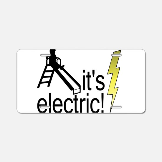 The Electric Slide Aluminum License Plate
