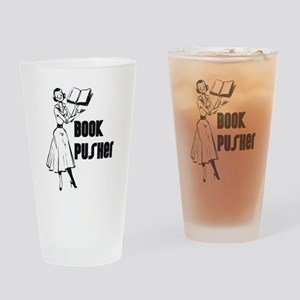 Book Pusher Drinking Glass