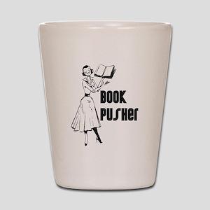 Book Pusher Shot Glass