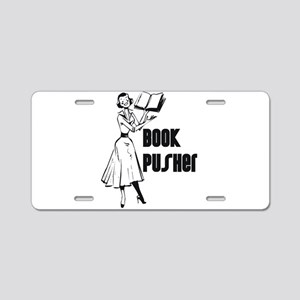 Book Pusher Aluminum License Plate