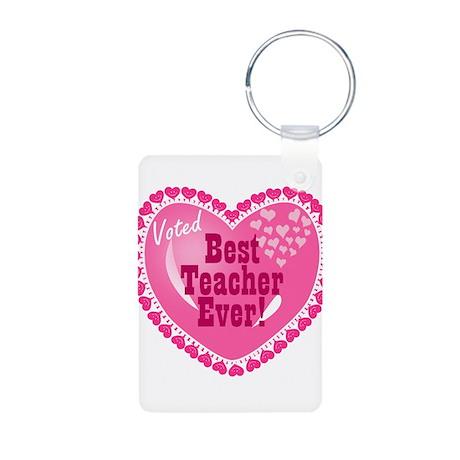 Voted Best Teacher EVER Aluminum Photo Keychain