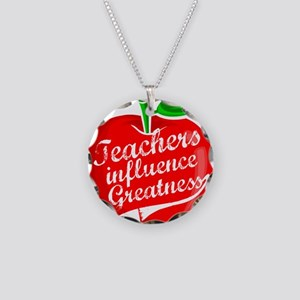 Teacher Gifts! Necklace Circle Charm