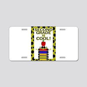 SECOND GRADE IS COOL! Aluminum License Plate