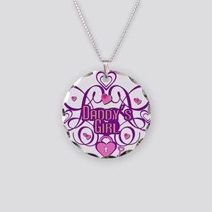 Daddy's Girl Pink/Fuschia Necklace Circle Charm