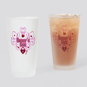 Daddy's Girl Pink/Red Drinking Glass