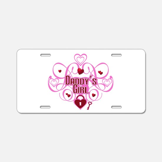 Daddy's Girl Pink/Red Aluminum License Plate