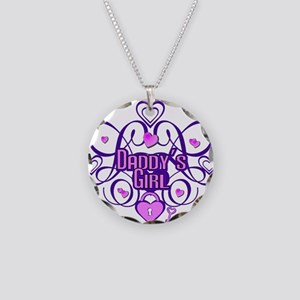 Daddy's Girl Purple/Pink Necklace Circle Charm