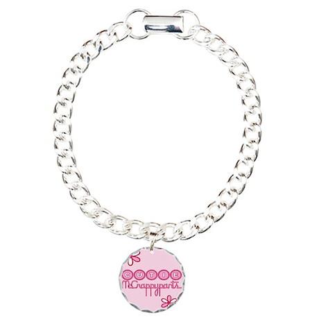 Cutie McCrappypants Charm Bracelet, One Charm