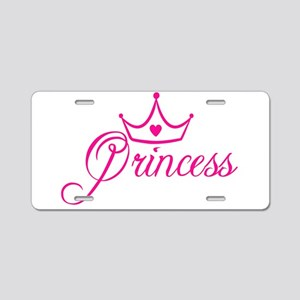Princess Aluminum License Plate
