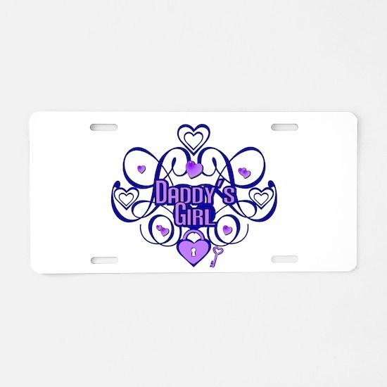 Daddy's Girl Blue/Lavender Aluminum License Plate