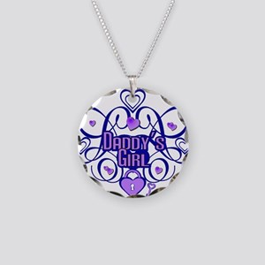 Daddy's Girl Blue/Lavender Necklace Circle Charm