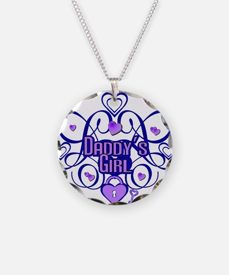 Daddy's Girl Blue/Lavender Necklace