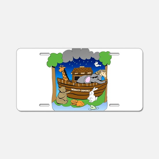 Noahs Ark Aluminum License Plate