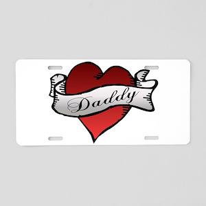Daddy Heart Tattoo Baby Tats Aluminum License Plat