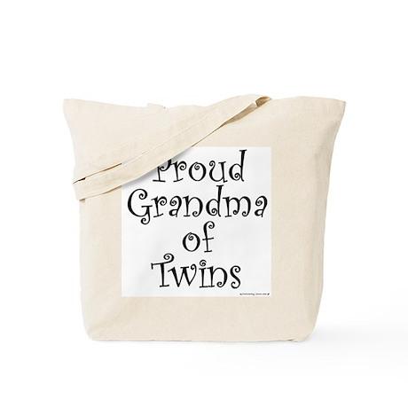 Proud Grandma of Twins Tote Bag
