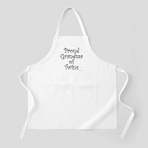 Proud Grandma of Twins BBQ Apron