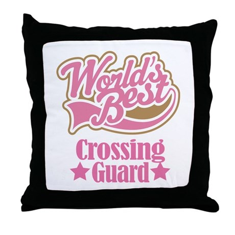 Crossing Guard Gift Throw Pillow