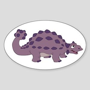 Cartoon Ankylosaurus Sticker (Oval 10 pk)