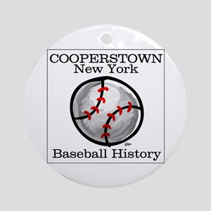 Cooperstown NY Baseball shopp Ornament (Round)