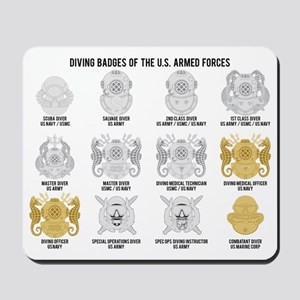 Diving Badges of the US Mousepad