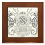 Navy Master Diver Framed Tile