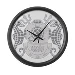 Navy Master Diver Large Wall Clock