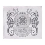 Navy Master Diver Throw Blanket