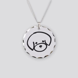 Bichon Frise Necklace Circle Charm