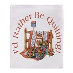 Rather Be Quilting Throw Blanket
