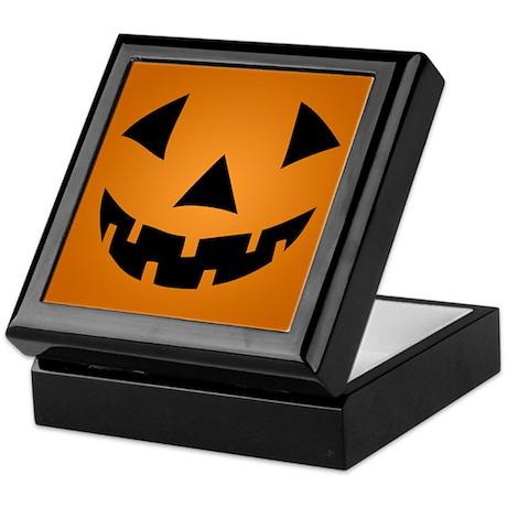 Jack-o-lantern Pumpkin Keepsake Box