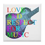 kuuma music 4 Tile Coaster