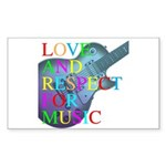 kuuma music 4 Sticker (Rectangle)