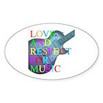 kuuma music 4 Sticker (Oval 50 pk)