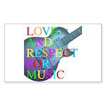 kuuma music 4 Sticker (Rectangle 50 pk)