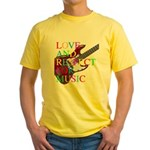 kuuma music 5 Yellow T-Shirt