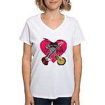 kuuma band 1 Women's V-Neck T-Shirt