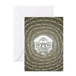 The Zombie Wants Brains! Greeting Card