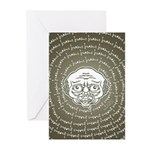 The Zombie Wants Brains! Greeting Cards (Pk of 20)