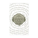 The Zombie Wants Brains! Sticker (Rectangle 50 pk)