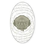 The Zombie Wants Brains! Sticker (Oval 10 pk)