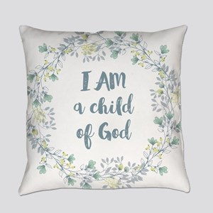 I AM a child of God Everyday Pillow