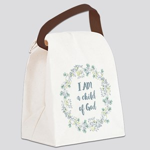 I AM a child of God Canvas Lunch Bag