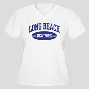 Long Beach New York Women's Plus Size V-Neck T-Shi