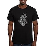 kuuma dragon music 1 Men's Fitted T-Shirt (dark)