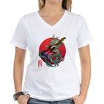 kuuma dragonguitar 3 Women's V-Neck T-Shirt