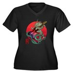 kuuma dragonguitar 3 Women's Plus Size V-Neck Dark