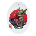 kuuma dragonguitar 3 Ornament (Oval)